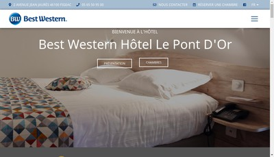 Site internet de Hotel le Pont d'Or