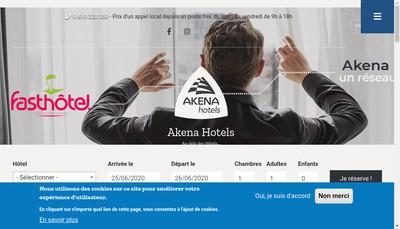 Site internet de Hotel Akena