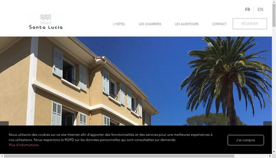Site internet de Hotel Santa Lucia