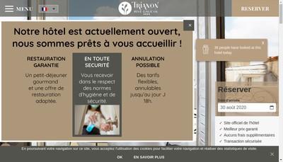 Site internet de Trianon Rive Gauche Hotel
