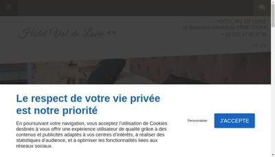 Site internet de Hotel Val de Loire