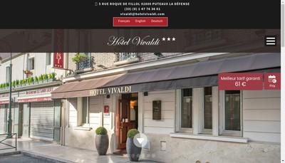 Site internet de Hotel Vivaldi