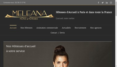 Site internet de Meleana