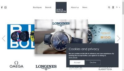 Site internet de Hour Passion SAS