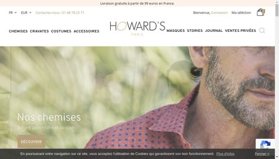 Site internet de L'Univers de la Cravate