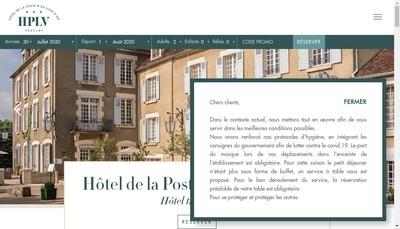 Site internet de Hotel de la Poste et du Lion d'Or