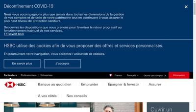 Site internet de Hsbc Epargne Entreprise