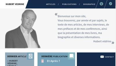 Site internet de Hubert Vedrine Conseil