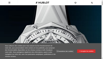 Site internet de Hublot SA