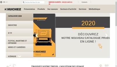 Site internet de Treuils Huchez - Huchez Mecanique