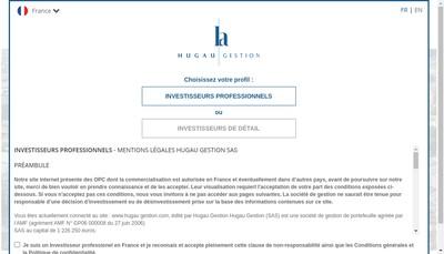 Site internet de Hugau Gestion