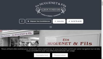 Site internet de Albion Funeraire Etablissements H Huguenet et Fils