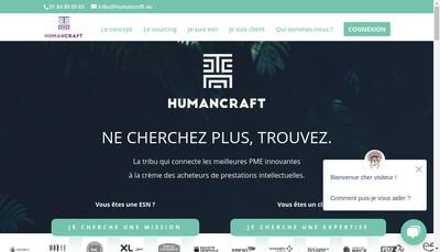 Site internet de Humancraft