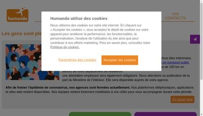Site internet de Humando Pluriels