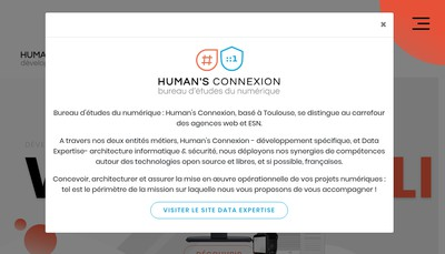 Site internet de Humans Connexion