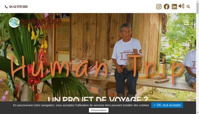 Site internet de Le Voyage Humain