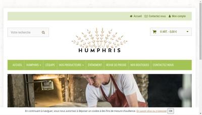 Site internet de Humphris