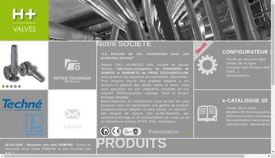 Site internet de H + Valves