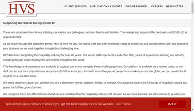 Site internet de HVS
