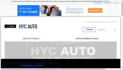 Site internet de Hyc Auto
