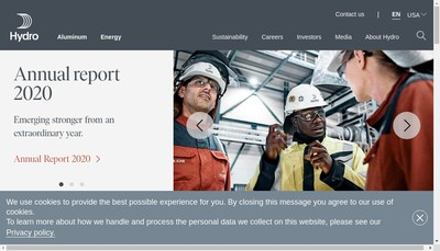 Site internet de Hydro Aluminium France SAS