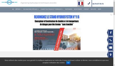 Site internet de Hydro System Tp