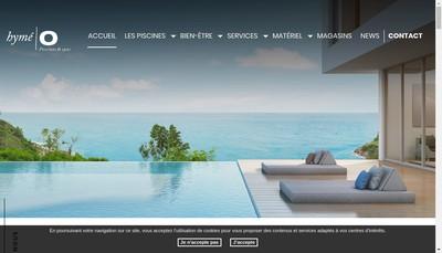 Site internet de Hymeo Piscines