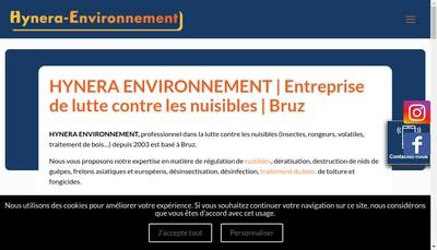 Site internet de Hynera-Environnement