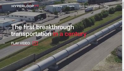Site internet de Hyperloop Transportation Technologies France - Htt France