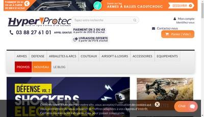 Site internet de Armurerie Hyperprotec