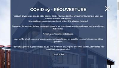 Site internet de L'Immobilier du Bassin Genevois