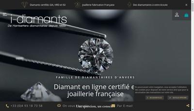 Site internet de I-Diamants et I-Joaillerie