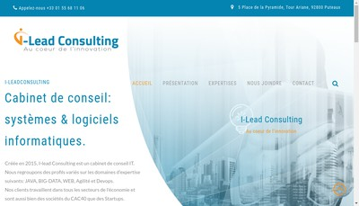 Site internet de I-Lead Consulting
