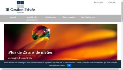 Site internet de Ib Gestion Privee