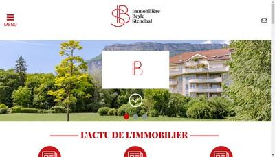 Site internet de Immobiliere Beyle Stendhal