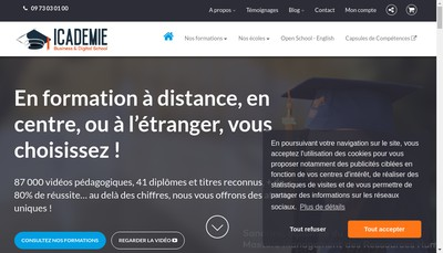 Site internet de Toulon Consulting & Formation