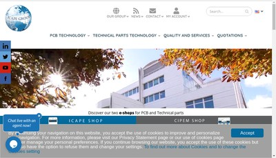 Site internet de Icape Holding