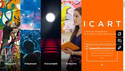 Site internet de Icart