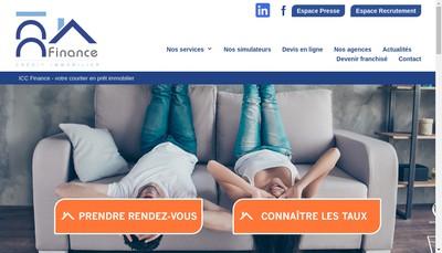 Site internet de Icc Finance