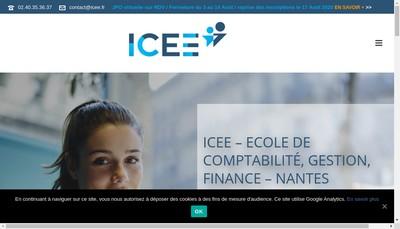 Site internet de Icee Finance Formation
