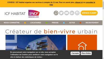 Site internet de Icf Habitat Sud-Est Mediterranee