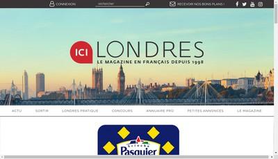 Site internet de Ici Londres