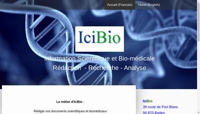 Site internet de Icibio