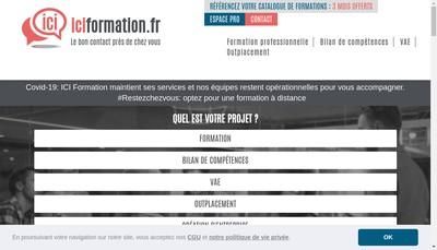 Site internet de Ici Formations - Ici Formation - Iciformations-Iciformation
