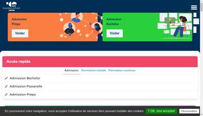 Site internet de Ecole Enseignement Superieur Prive Icn