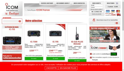 Site internet de Icom France