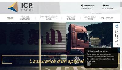 Site internet de Icp Courtage et Finance