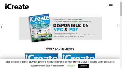 Site internet de Icreate
