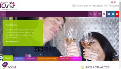 Site internet de Vignobles et Vins Services