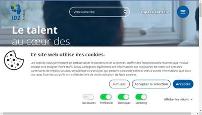 Site internet de Id2 Groupe